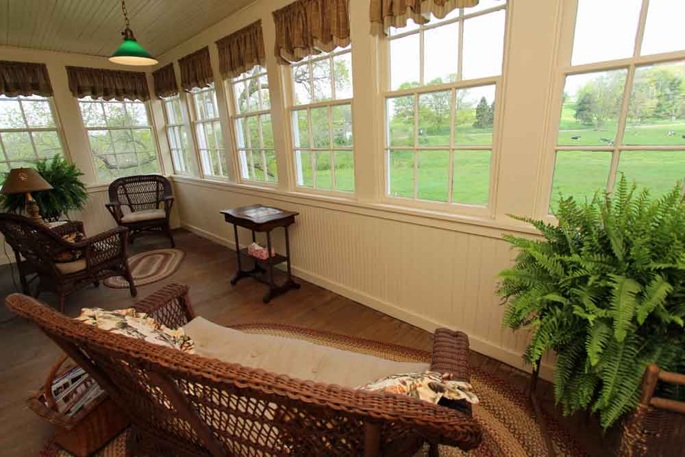cozy sitting area with view of PA Dutch Country